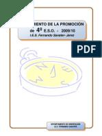 SEGUIMIENTO  PROMOCION 4º 2009-10 - INFORME FINAL-PDF