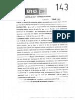 Resolución Ministerio de Trabajo y Seguridad Social