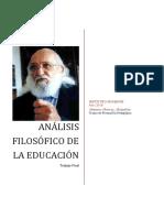 Análisis Filosófico de la Educación_Trabajo Final_FODEHUM_2019_Murray
