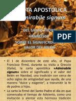 CARTA APOSTÓLICA Admirabile signum (presentacion)