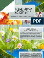 IRRITABILIDAD EN PLANTAS Y ANIMALES