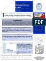 The role of industrial minerals in the treatment and remediation of industrial wastewater POSTER