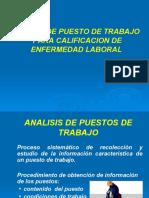 Generalidades analisis puesto trabajo 2018