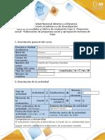 Guía de Actividades y Rúbrica de Evaluación Fase 3- Elaboración de Propuesta Social y Apropiación Lecturas Del Zopp