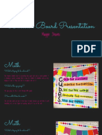 bulletin board presentation - maggie stearns