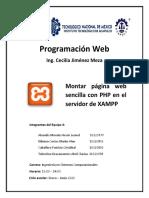 Montar página web sencilla con PHP en el servidor de XAMPP.pdf