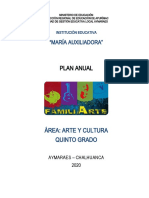 Plan Anual Arte y Cultura 2020 m.a. 5º