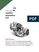 caja de cambios automática CVT