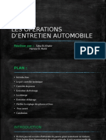 LES OPERATIONS D'ENTRETIEN AUTOMOBILE