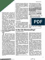 CIA Stonewalling