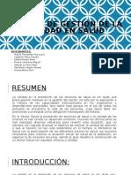 Sistema de gestión de la calidad en Salud GRUPO N°4