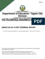 DM253 03-04-19 GPP TERMINAL REPORT _ Department of Education -Division of Tagum City