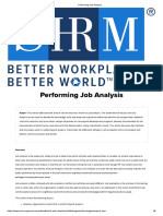 Performing Job Analysis