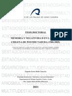 Memoria y negatividad en la poesía chilena de postdictadura tesis doctoral Bello