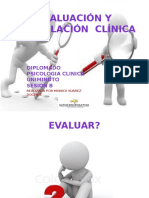 SESION B EVALUACION Y FORMULACIÓN  CLINICA