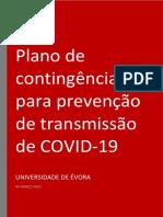 Plano de Contingência COVID-19 UÉ