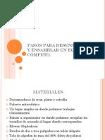 Manual Ensamble y Desensamble