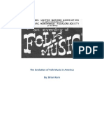 The Evolution of Folk Music