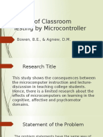 Effects of Classroom Testing by Microcontroller ppt