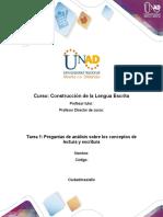 Formato Tarea 1 - Responder preguntas de análisis sobre los conceptos de lectura y escritura (1).docx