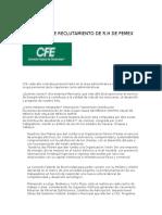 PROCESO DE RECLUTAMIENTO DE R CFE