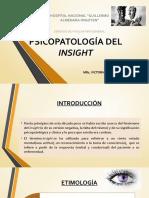 PSICOPATOLOGÍA DEL INSIGHT