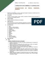 Procedimientos Operativos de Limpieza y Sanitizacion