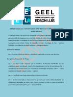 Edital Eleição Gremio Estudantil 2020 2021 Exemplo