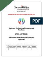 CPMS-AUT-ES-001_Instrument and Control Philosophy Standard