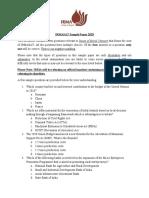 IRMASAT Sample Paper 2020