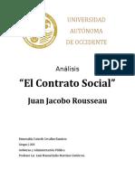 Análisis El Contrato Social de Juan Jacobo Rousseau.