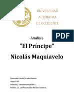 """Análisis """"El Principe"""" de Nicolás Maquiavelo."""
