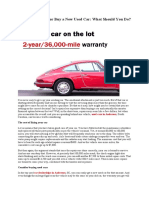 Fix Your Old Car or Buy a New Used Car What Should You Do