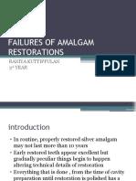 FAILURES OF AMALGAM RESTORATIONS- RANIYA
