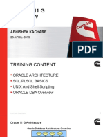 Oracle 11 G Overview
