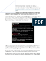 Antivirales, Antiinflamatorios y COVID-19