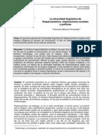 La diversidad lingüística de Hispanoamérica - Real Instituto Elcano 2006