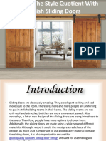 List a few of the latest types of wooden doors