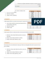 Propostas de trabalho - Medidas de tendência central