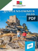 Burgensommer Oberpfälzer Wald 2020