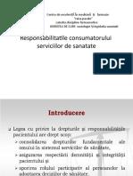 Responsabilitatile consumatorului  serviciilor de sanatate.pptx