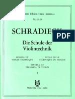 Schradieck - School of Violin Technics - Book I