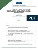 Real Decreto 1451/2005, de 7 de diciembre, por el que se aprueba el Reglamento de Ingreso, Provisión de Puestos de Trabajo y Promoción Profesional del Personal Funcionario al Servicio de la Administración de Justicia.