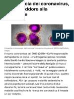 La minaccia dei coronavirus, dal raffreddore alla polmonite-Le Scienze