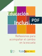 Educación inclusiva. Reflexiones para acompañar el cambio en la escuela de la Organización de Estados Iberoamericanos