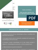 La Evaluación Dentro de Las Metodologías Activas. Educación de Personas Adultas y FP. CEP Cantabria