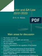 THE DOCTOR AND SA LAW 2020.pdf