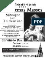 2010 St. Joseph Church Christmas Flyer