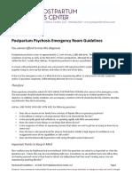 Psychosis-ER-Guidelines