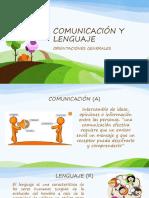 COMUNICACIÓN Y LENGUAJE presentacion general